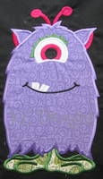 Monster Purple Applique