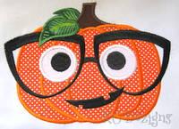 Geeky Boy Pumpkin Applique