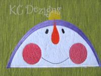 Looking Up Snowman 01 Applique
