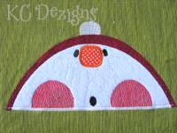 Looking Up Snowman 04 Applique