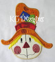 Funny Face Scarecrow Applique