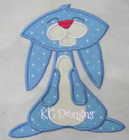Blue Easter Bunny Applique