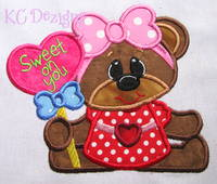 Bearly Love Sweet On You Applique