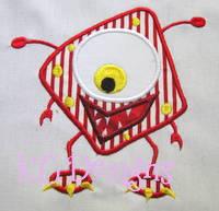 Red Monster Applique