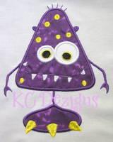 Purple Monster Applique