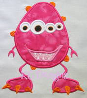 Pink Monster Applique