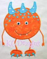 Orange Monster Applique