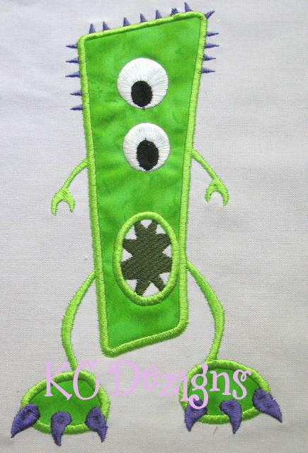Green Monster Applique