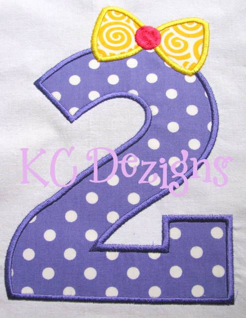 Bow Number 2 Applique