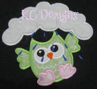Rainy Day Owl 2 Applique