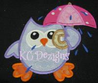 Rainy Day Owl 4 Applique