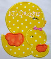 Mommy and Baby Chick Applique