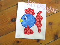 Cute Fish 1 Applique