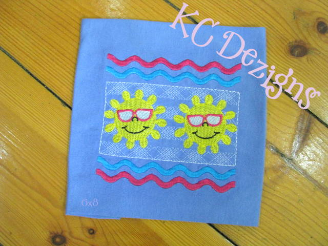 Faux Smocking Sun With Sunglasses