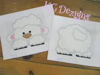 Front and Back Sheep Applique