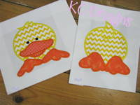Front and Back Duck Applique