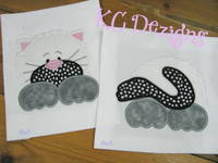 Front and Back Cat Applique
