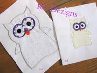 Halloween Ghost Owl Applique