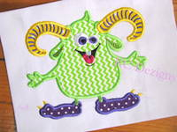 Fun Monsters 02 Applique
