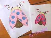 Cute Ladybug 02 Applique