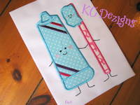 Toothpaste and Toothbrush Applique