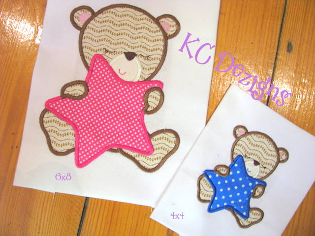 Baby Girl Bear With Star Applique