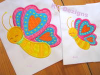 Spring Butterfly Applique