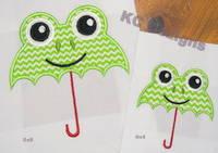 Frog Umbrella Applique