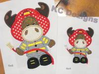 Moose Fireman Applique