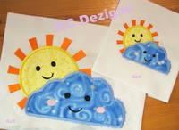 Smiley Sun And Cloud Applique