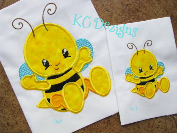 Baby Bug Bee Applique