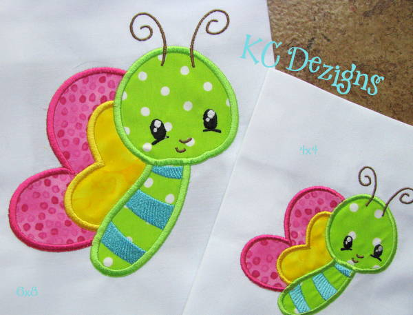 Baby Bug Butterfly Applique