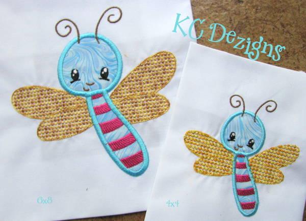 Baby Bug Fly Applique