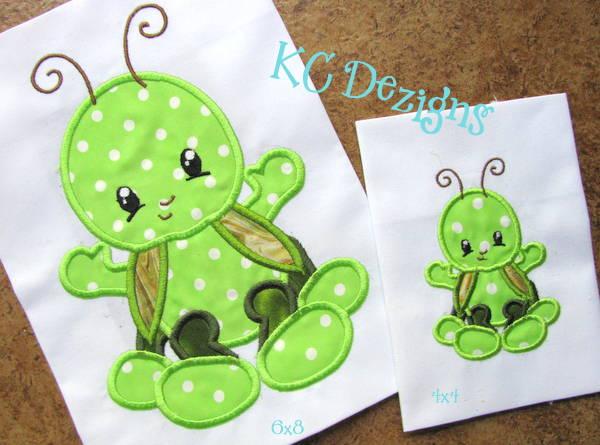 Baby Bug Grasshopper Applique