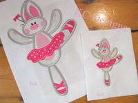 #1120 Ballerina Bunny 2 Applique