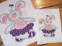 #1121 Ballerina Bunny 3 Applique