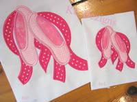Ballerina Shoes Applique