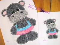 Hippo With Pool Ring Applique
