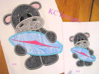 Hippo With Surfboard Applique