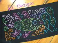Colourline Fish 01 Embroidery
