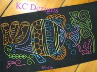 Colourline Fish 02 Embroidery