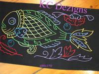 Colourline Fish 04 Embroidery