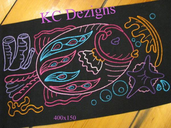 Colourline Fish 05 Embroidery