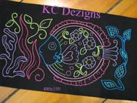 Colourline Fish 06 Embroidery