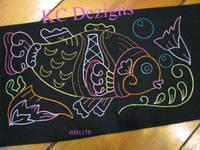 Colourline Fish 07 Embroidery
