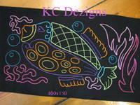 Colourline Fish 08 Embroidery