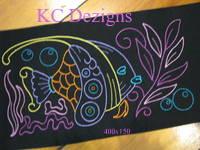 Colourline Fish 09 Embroidery
