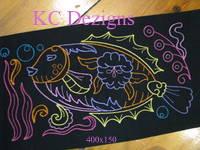 Colourline Fish 10 Embroidery