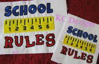 School Rules Applique
