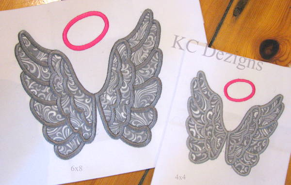 Angel Wings With Halo Applique